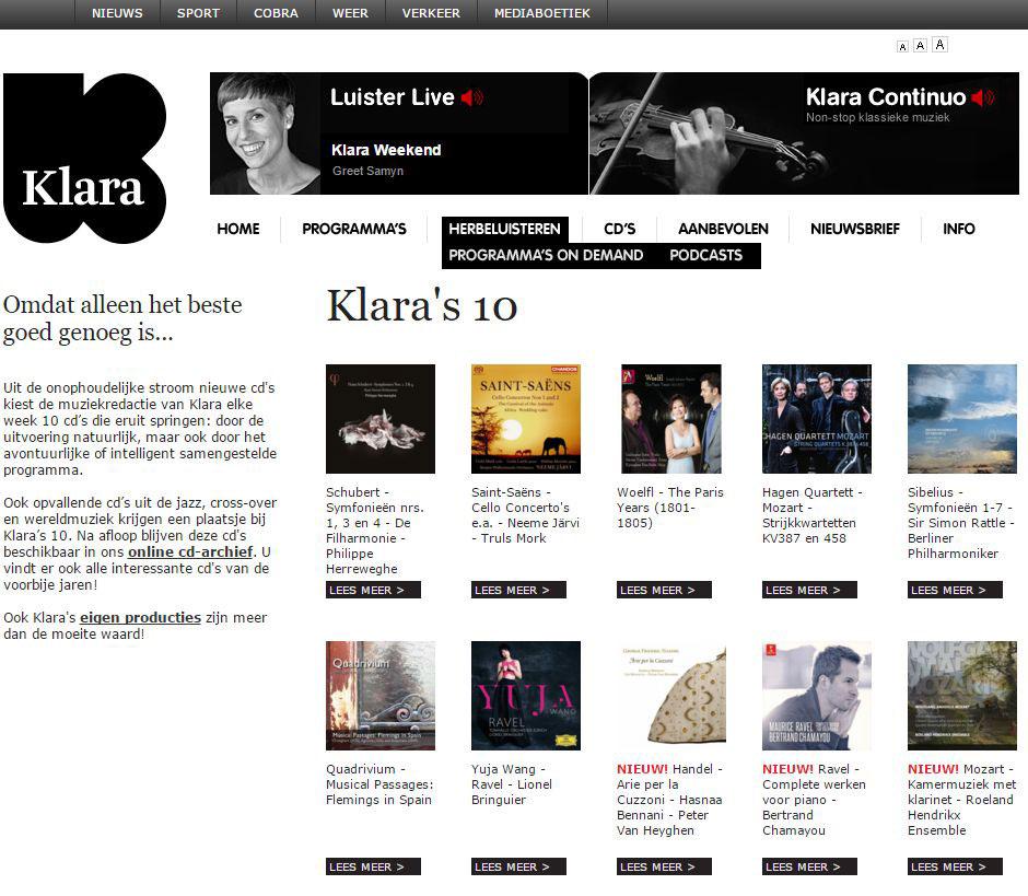 Top 10 of Radio Klara